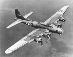American B-17 Four Engine Heavy Bomber
