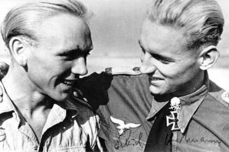 Erich Hartmann, and his crew chief Heinz Mertens, they became close friends.